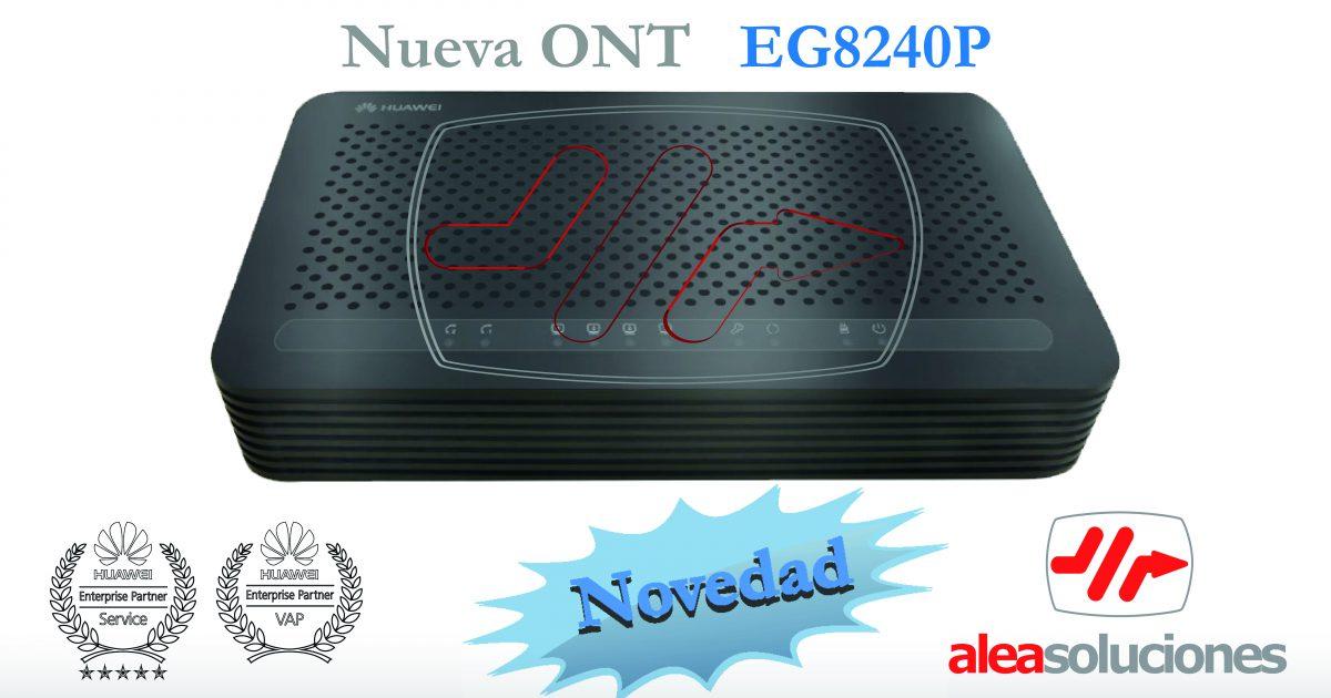 Nueva ONT Huawei EG8240P con PoE