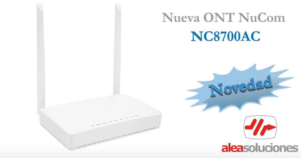 NC8700AC: ONT NuCom con router wifi AC